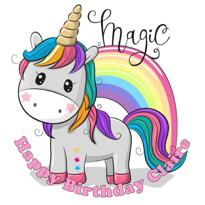 Unicorn Magic Edible Cake Topper